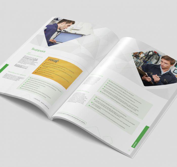 product brochure design, print design