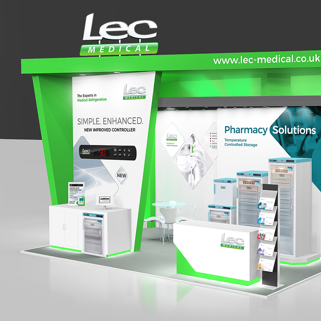 creative design agency, Lec Medical, exhibition design