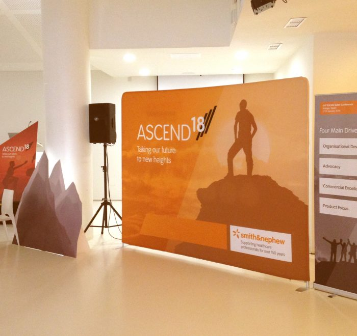 Smith & Nephew Ascend project, portable exhibition display