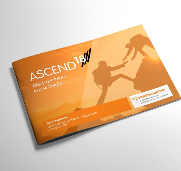 Smith & Nephew Ascend Project, brochure design, print design